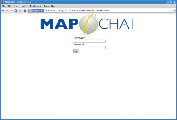 MapChat 2 Login Screen