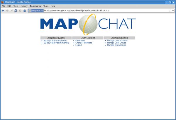 MapChat 2 Main Options